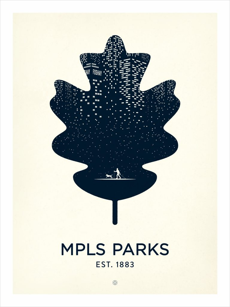 MPLS Parks poster by Karl Schweikart