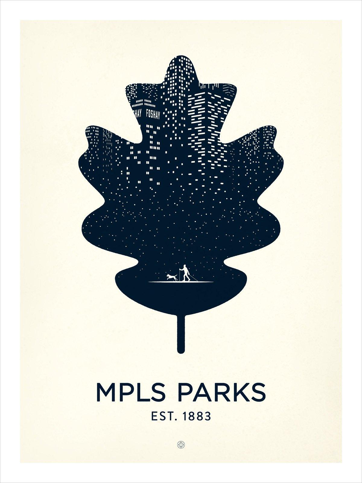 MPLS Parks poster by Karl Schweikart