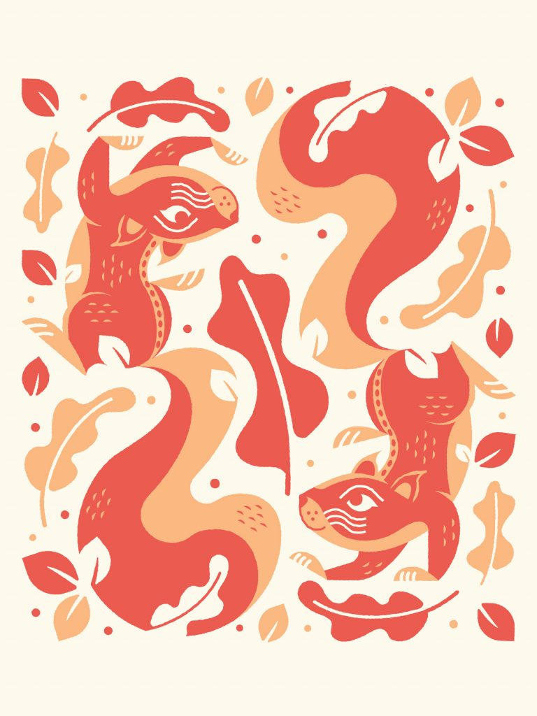 Squirrel Swirl poster by Kyle Loaney