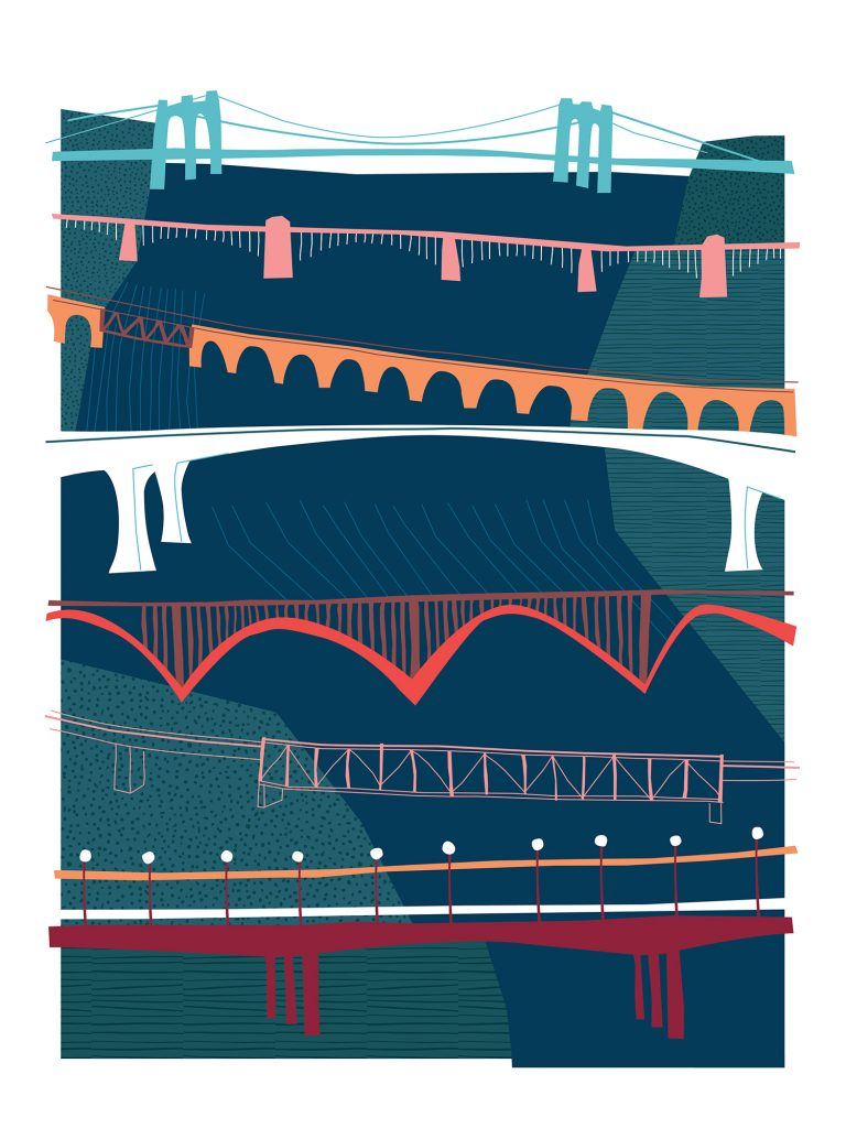 7 Bridges | 9 Parks | 1 River poster by Allison Long