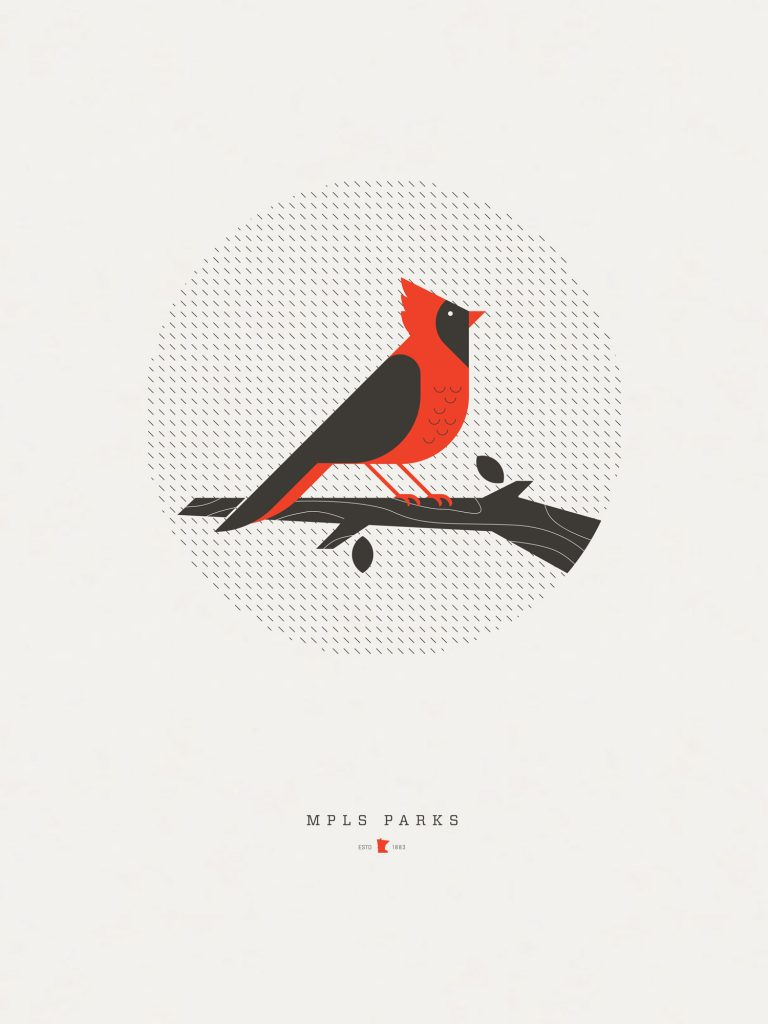 Little Redbird poster by Torey Needham