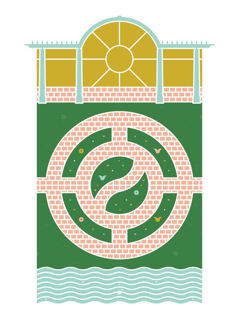 Longfellow Gardens poster by Lauren Osoba