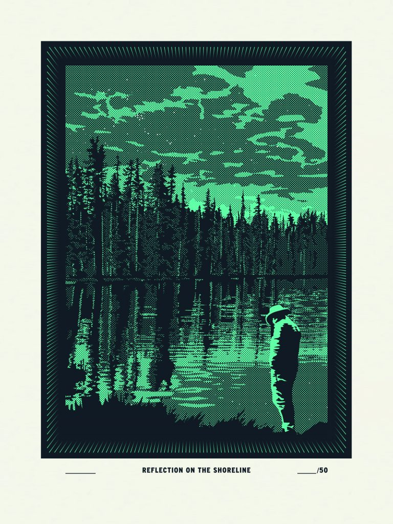 Reflection on the Shoreline poster by Matthew Sullivan
