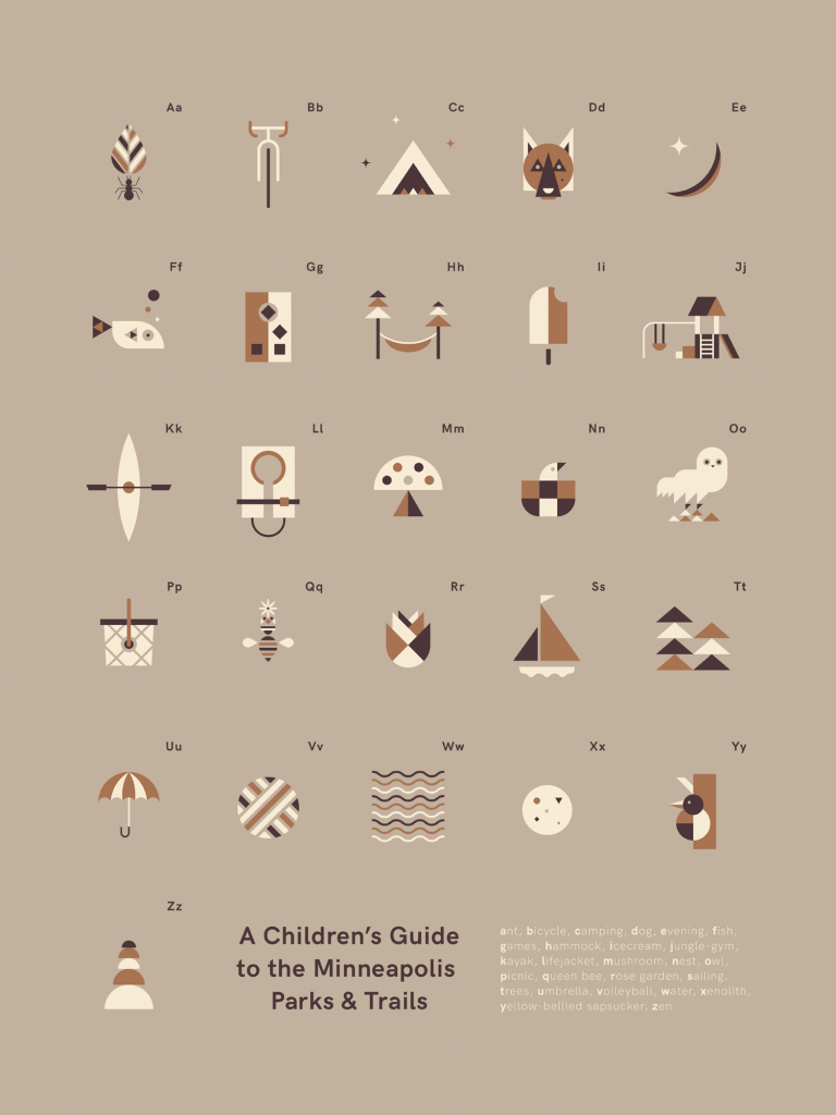 A Children's Guide to the Minneapolis Parks & Trails poster by benjayway