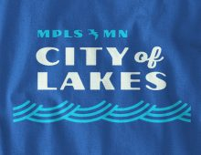 City of Lakes long-sleeve t-shirt design detail