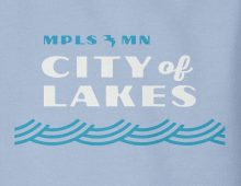 City of Lakes sweatshirt design detail