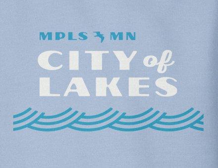 City of Lakes sweatshirt design detail