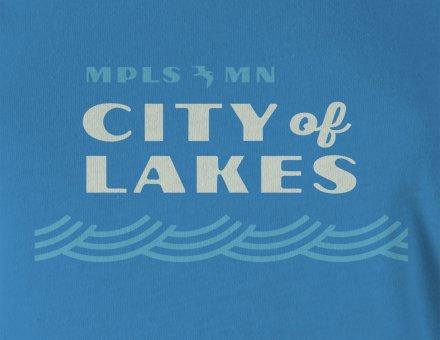City of Lakes women's t-shirt design detail
