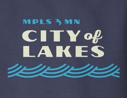 City of Lakes hooded sweatshirt design detail