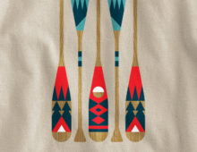 Detail of Wild Oars shirt design by Cody Petts