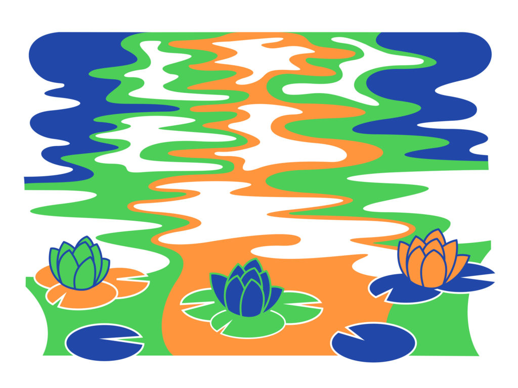 Water Lilies poster by Mitchell Green