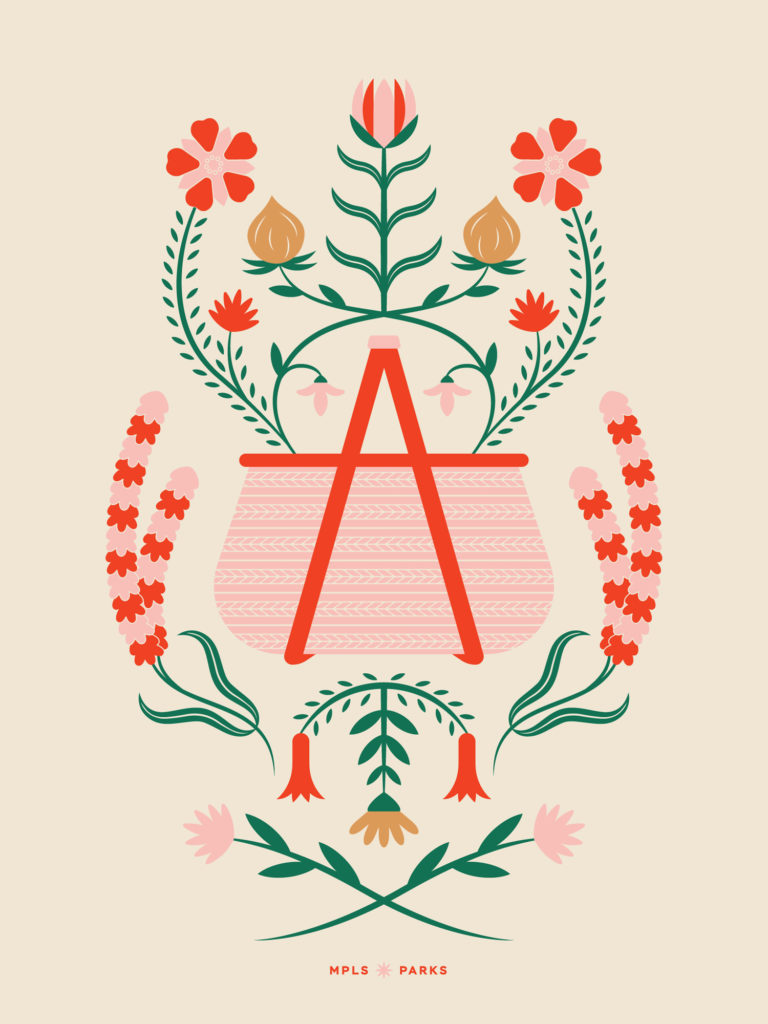 The Time of Wildflowers poster by Abigail Grewenow