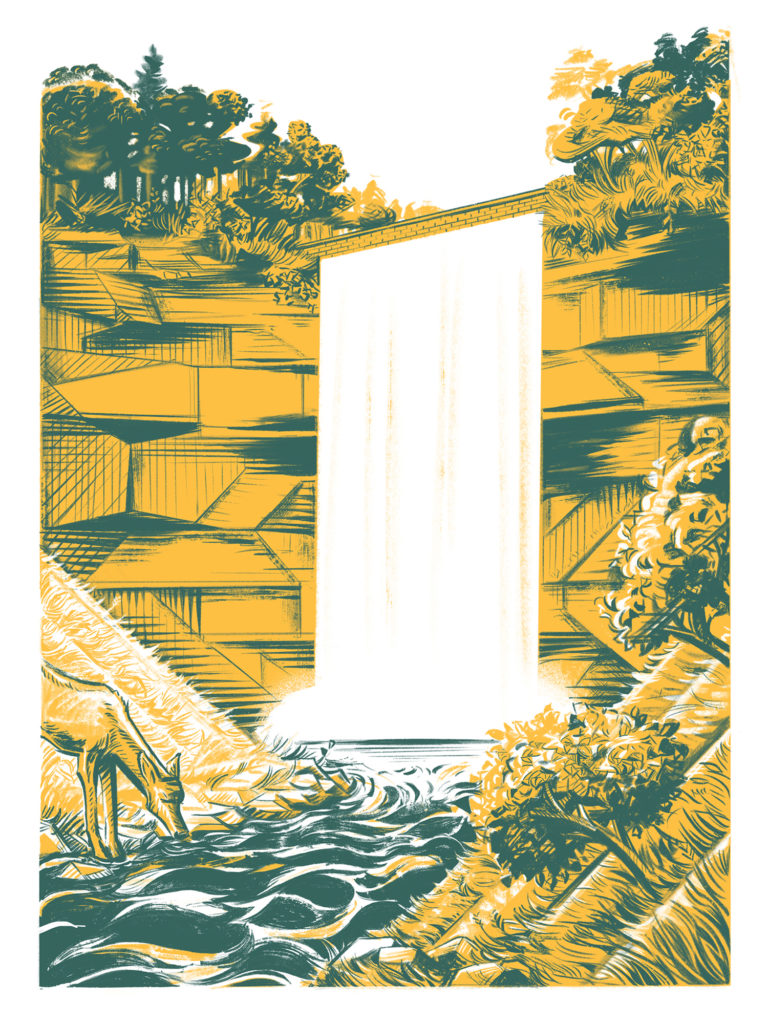 Minnehaha Falls poster by Michael Iver Jacobsen