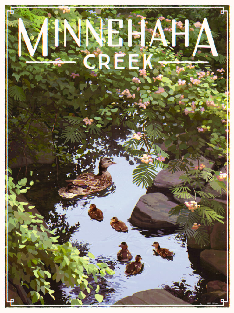 Minnehaha Creek poster by Erik Krenz