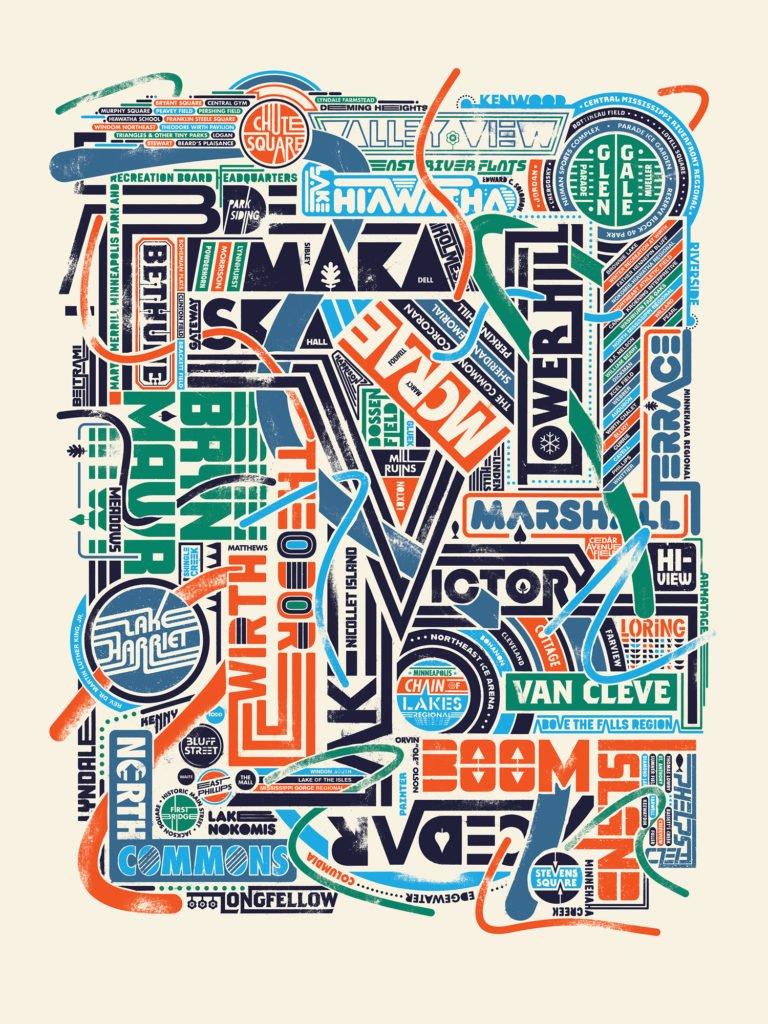 Park Names Collage poster by Doug Pedersen