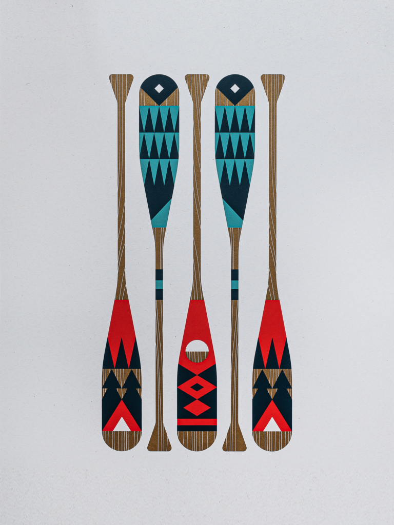 Wild Oars poster by Cody Petts