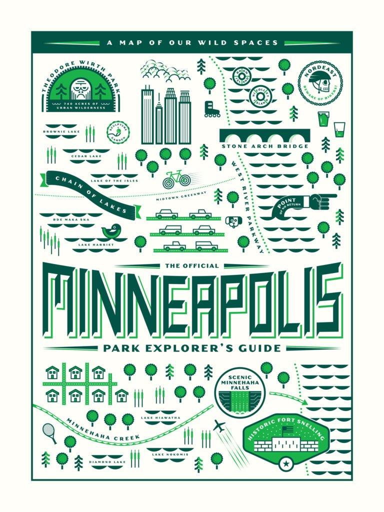 Minneapolis Park Explorer's Guide poster by Gabriel Schmidt