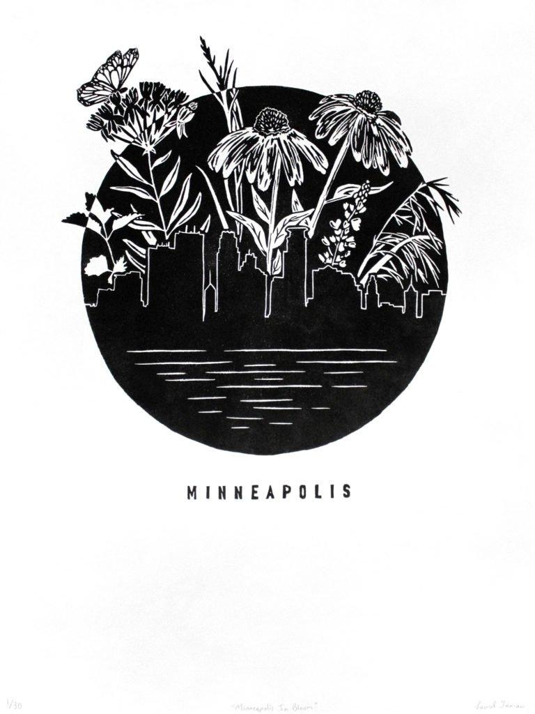 Minneapolis in Bloom poster by Laurel Tieman